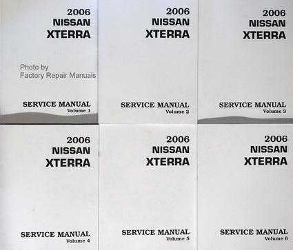 2006 nissan xterra factory service manual 6 volume set. Black Bedroom Furniture Sets. Home Design Ideas