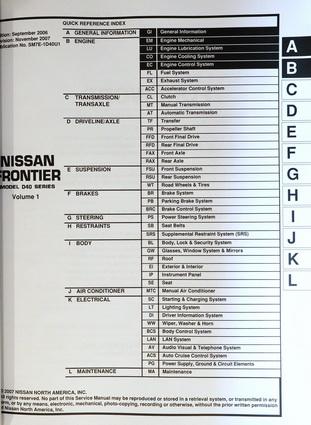 2007 nissan frontier factory service manuals original shop mercedes benz repair diagrams