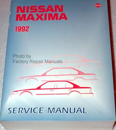 1992 nissan maxima factory service manual original shop 2006 Nissan Maxima Service Manual 2006 Nissan Maxima Service Manual
