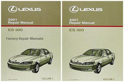 2001 lexus es300 factory repair manual set es 300 original shop rh factoryrepairmanuals com 2001 lexus es300 repair manual pdf 2001 lexus es300 owners manual