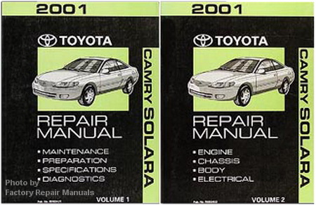 2001 toyota camry solara factory service manual set. Black Bedroom Furniture Sets. Home Design Ideas
