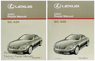 2002 Lexus SC430 Factory Service Repair Manuals