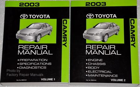 2003 toyota camry factory service manual 2 volume set 2003 toyota camry le repair manual toyota camry 2003 parts manual