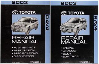 2003 toyota rav4 factory service manual 2 volume set original shop repair factory repair manuals 2004 toyota rav4 repair manual 2007 toyota rav4 repair manual