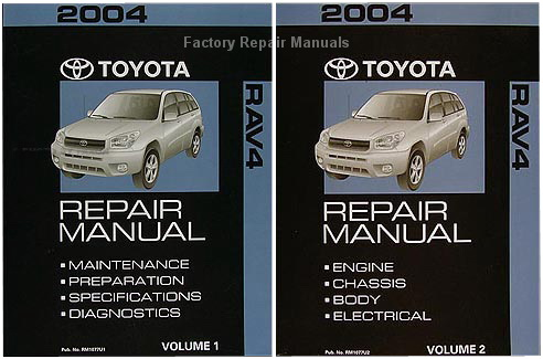 2004 toyota rav4 factory service manual 2 volume set original shop rh factoryrepairmanuals com 2004 toyota rav4 repair manual 2008 Toyota RAV4