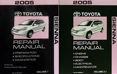 2005 toyota sienna factory service manual 2 volume set original rh factoryrepairmanuals com 2006 toyota sienna factory service manual 2006 toyota sienna factory service manual