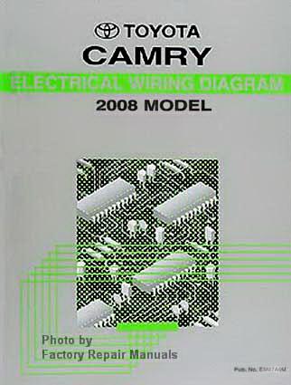 2008 toyota camry electrical wiring diagrams original factory manual factory repair manuals. Black Bedroom Furniture Sets. Home Design Ideas