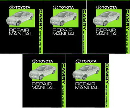 2008 toyota camry hybrid factory service manual 5 volume set original shop repair factory. Black Bedroom Furniture Sets. Home Design Ideas