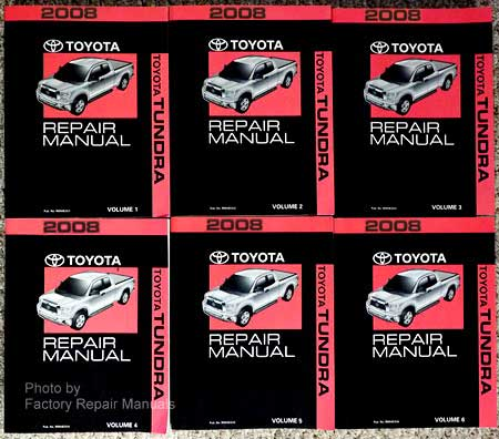 2008 Toyota Tundra Factory Service Manual 6 Volume Set