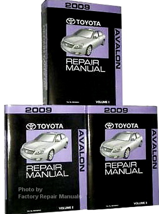 2009 Toyota Avalon Factory Service Manual 3 Volume Set ...