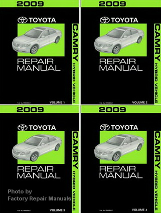 2009 toyota camry hybrid factory service manual 4 volume set original shop repair factory. Black Bedroom Furniture Sets. Home Design Ideas