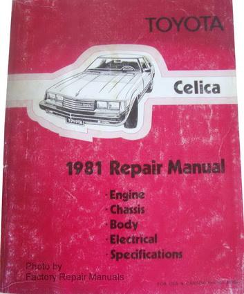 celica repair manual