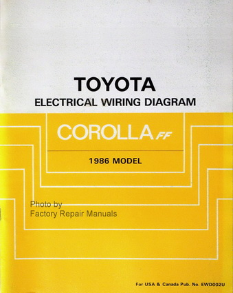 1986 Toyota Corolla FWD Electrical Wiring Diagrams ...