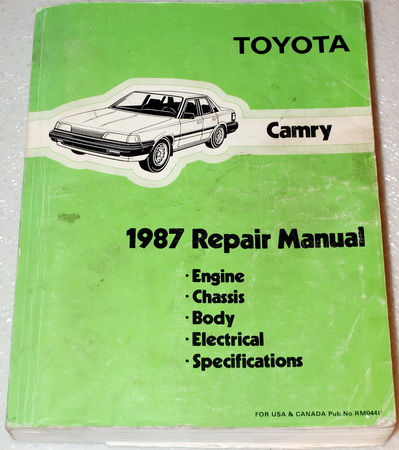 1987 Toyota Camry Factory Dealer Shop Service Repair Manual