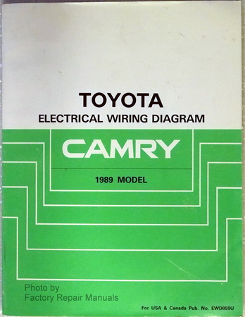 1989 toyota camry electrical wiring diagrams original. Black Bedroom Furniture Sets. Home Design Ideas