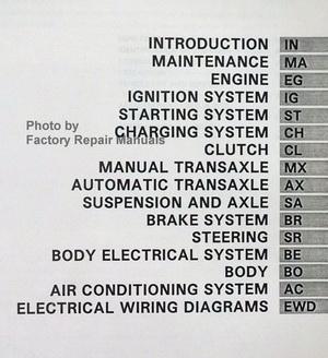 1992 toyota tercel factory service manual original shop repair book wiring-diagram toyota fj40 1992 toyota tercel factory repair manual table of contents