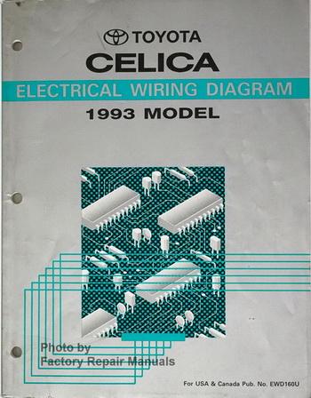 1993 Toyota Celica Wiring Diagrams Original Electrical ...