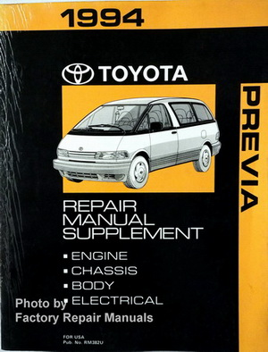 1994 toyota previa van factory service manual supplement original rh ebay com toyota previa service manual pdf toyota previa 2000 service manual