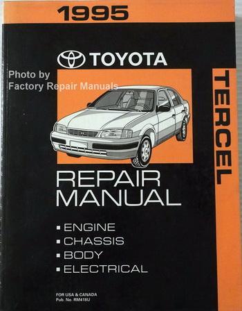 1995 toyota tercel factory service manual original shop repair book rh ebay com 1999 Toyota Tercel 1994 Toyota Tercel