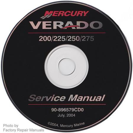 2005 Mercury Verado 200 225 250 275 Factory Service Manual CD