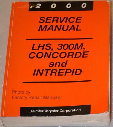 2000 Concorde 300m Lhs  U0026 Intrepid Factory Service Manual