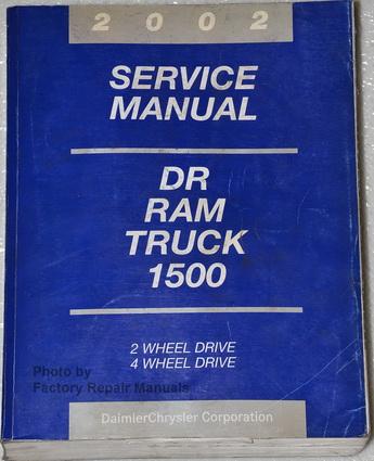 2002 dodge ram 1500 truck factory service manual. Black Bedroom Furniture Sets. Home Design Ideas