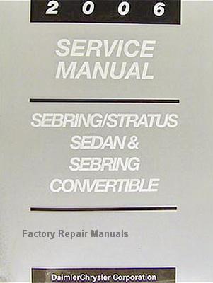 2006 chrysler sebring dodge stratus factory service manual ... 04 dodge stratus repair guide wiring diagram