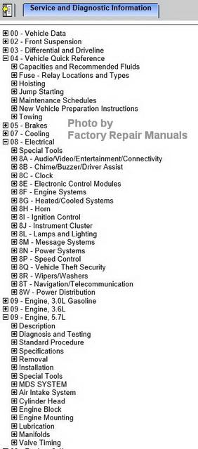2016 Chrysler 300 Series Factory Service Manual Cd
